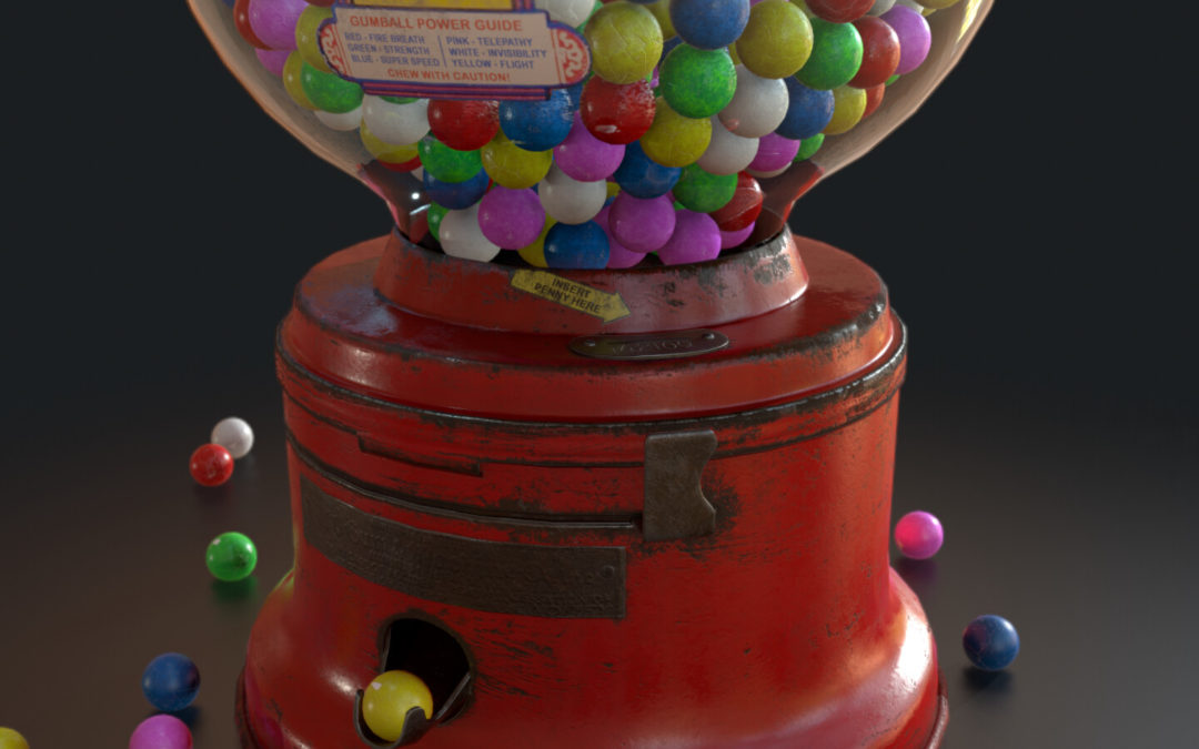 Gumball Machine – Game Ready Asset